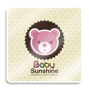Etiqueta adherible para ropa de bebé